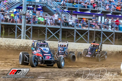 Plymouth - Indiana Sprint Week USAC - 7/19/.19 - Dave Dellinger