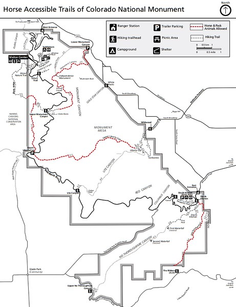 Colorado National Monument (Equestrian Trail Map)