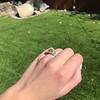 2.10ct Art Deco Peruzzi Cut Diamond Ring, GIA W-X SI2 14