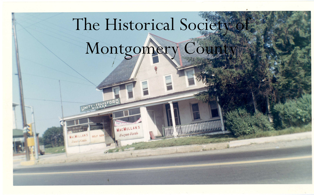 . This photo from the Historical Society of Montgomery County shows MacMullan\'s Store and Hotel in Whitpain in 1968.