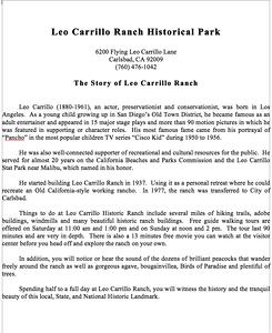 Leo Carrillo Ranch Historical Park, 2/14/15