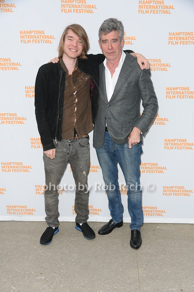 """Gusest and Jay McInerney  attend the screening of """"The Capote Tapes"""" at the Hampton International Film Festival at the UA Cinema in Southampton on October 12, 2019. photo by Rob Rich/SocietyAllure.com"""