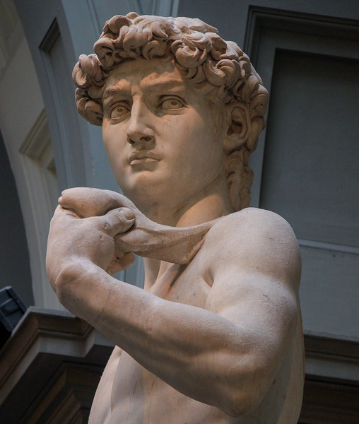 Michaelangelo's David weighs 12,478 lbs and stands 17 feet tall. For 25 years other sculptors deemed this slab of marble too flawed for the task of a large David. Michaelangelo accepted the challenging imperfections and created a masterpiece for the ages.