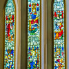 King Alfred the Great (9thC) and St Dunstan, Archbishop of Canterbury (909-988) <br> glass by Clayton & Bell, London