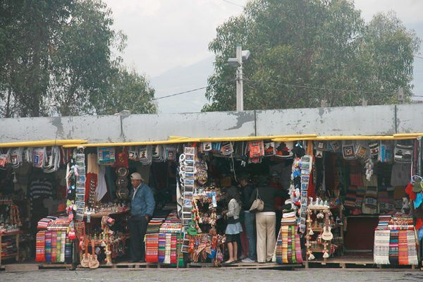 Curio shops on Panecillo Hill