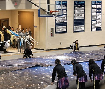 Winterguard at Pope (photos by Donna Booth)