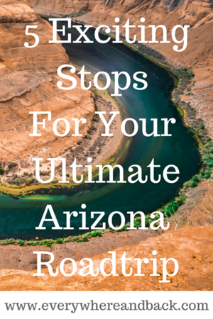 Looking for the ultimate adventure roadtrip in Northern Arizona? Check out our 5 exciting stops that you don't want to miss! Cress on Oak Creek in Sedona, Secret Canyon Slot Canyon Tour, Horseshoe bend, Into The Grand and Kayaking Lake Powell