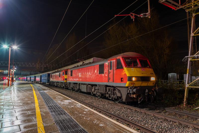 DB Cargo 90040 & 90036, Stafford