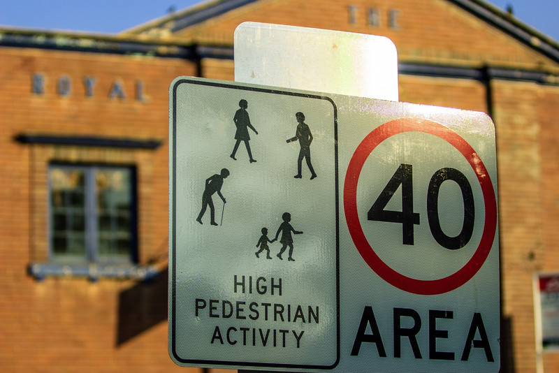 High Pedestrian Activity.