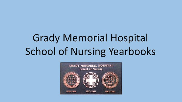 Grady School of Nursing Yearbooks