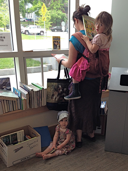 Reading for all ages...     So glad these neighbors of mine came to the sale!