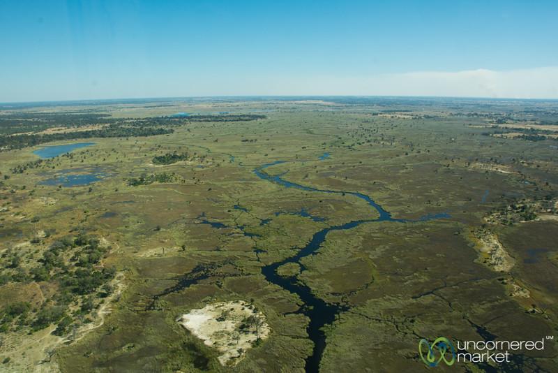 Okavango Delta From Above, Flying to Camp Xakanaxa - Botswana