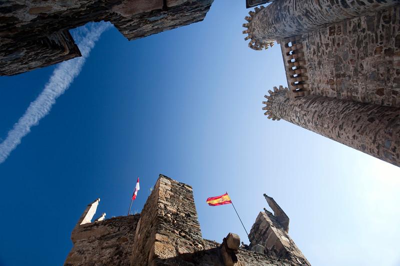 Templar castle, town of Ponferrada, El Bierzo region, province of Leon, autonomous community of Castilla and Leon, northern Spain
