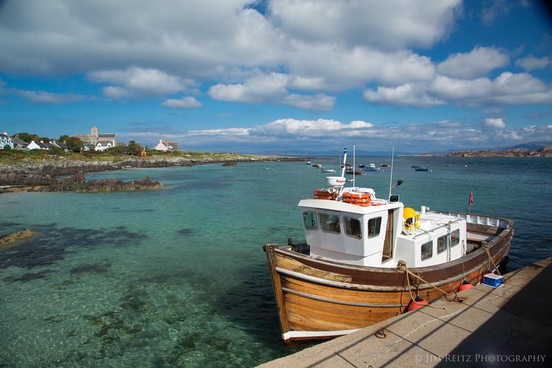 Iona Harbor & ferry boat - Isle of Iona, Scotland