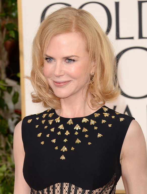. Actress Nicole Kidman arrives at the 70th Annual Golden Globe Awards held at The Beverly Hilton Hotel on January 13, 2013 in Beverly Hills, California.  (Photo by Jason Merritt/Getty Images)