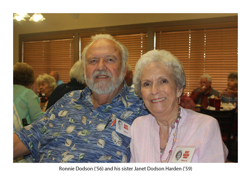Ronnie Dodson '56 and his sister, Janet Dodson Harden '59.jpg