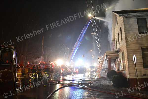 Northumberland County - City of Shamokin - Building Fire - 01/29/2013