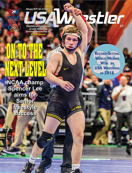 USA Wrestler Cover, Feb, 2019