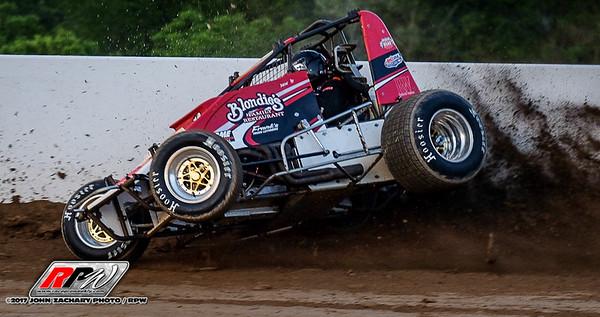 Ultimate Wingless Shootout @ Weedsport Speedway - 6/25/17 - John Zachary