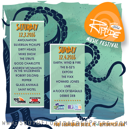 Riptide Festival, Dec 3rd and 4th on Beautiful Ft. Lauderdale Beach