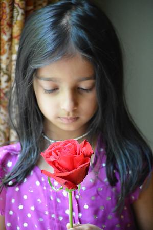 Nina and flowers