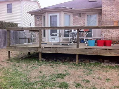 Deck to patio project