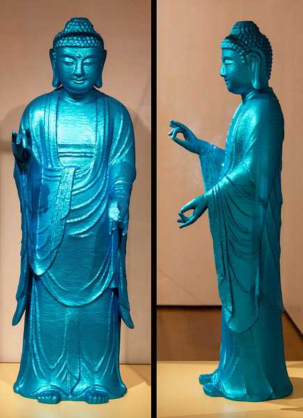 Noh Sang Kyoon, For the Worshipers, (sequins, polyester resin, and fiberglass)