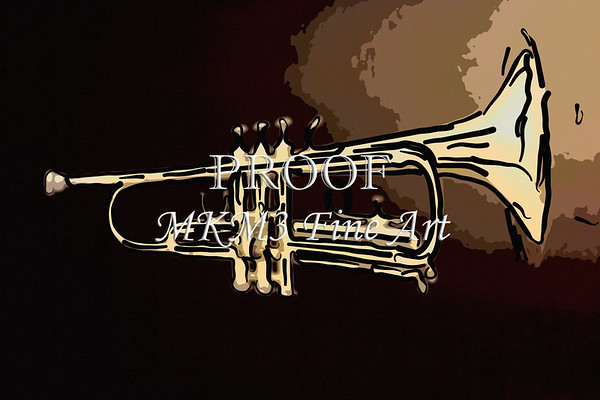 Painting Prints of a Trumpet set 2062