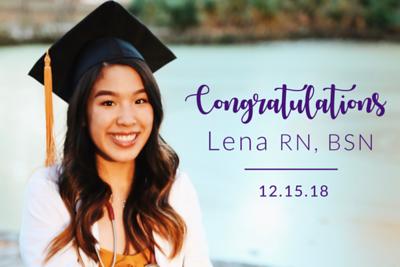 Congratulations Lena 12/15/18
