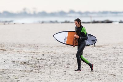 Surfers at Rockaway Beach 10/26/17