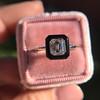 1.19ct Vintage Emerald Cut Diamond Onyx Ring, GIA E VS2 46