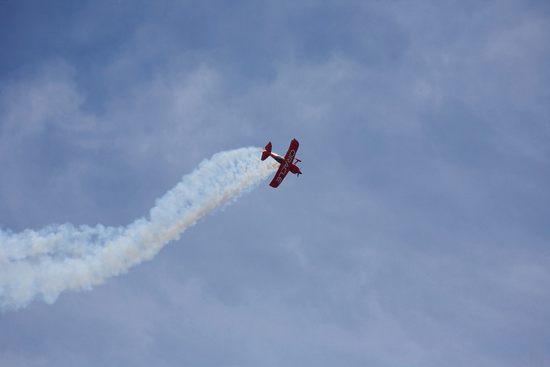 Boston / Portsmouth Airshow. The Oracle stunt plane piloted by Sean D Tucker
