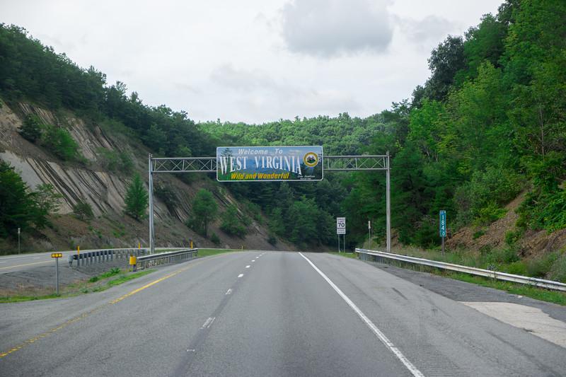 Into West Virginia from VA I-64