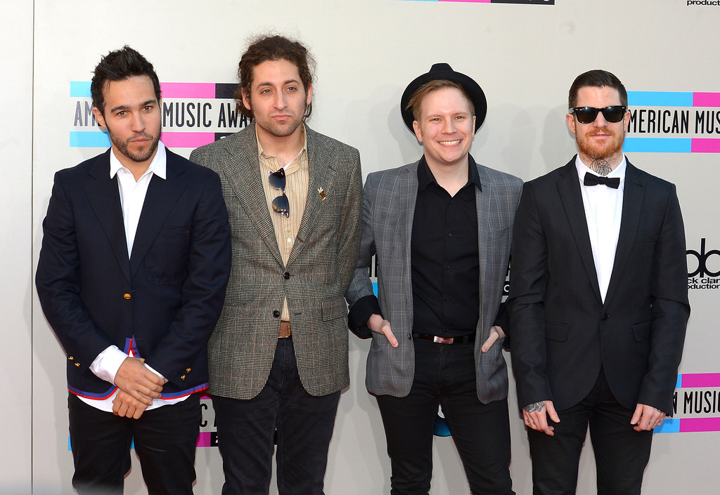 . Fall Out Boy arrives to the American Music Awards  at the Nokia Theatre in Los Angeles, California on Sunday November 24, 2013 (Photo by Andy Holzman / Los Angeles Daily News)