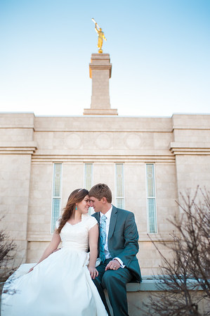 Bride and Groom at Temple