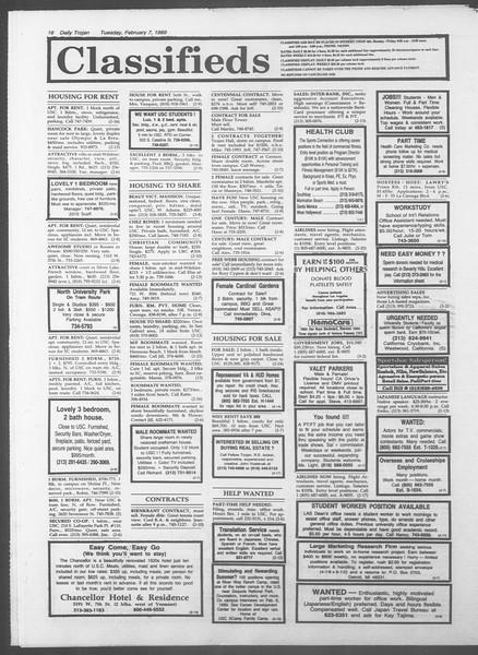 Daily Trojan, Vol. 108, No. 18, February 07, 1989