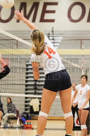 Boone Braves vs Freedom Patriots Girls Varsity Volleyball District Semifinals game - 2014