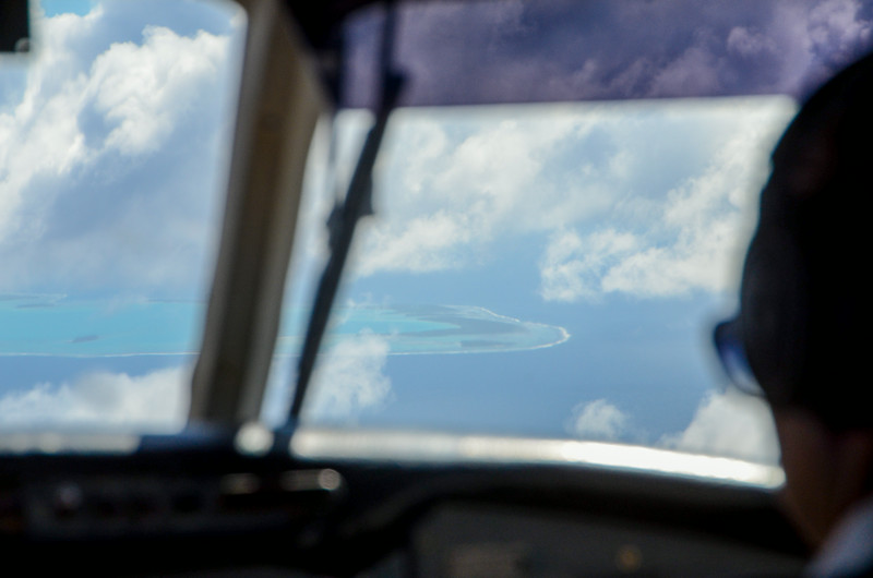 First glimpse of Aitutaki!