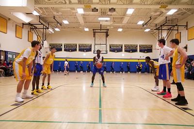 Boys Basketball and Cheerleaders