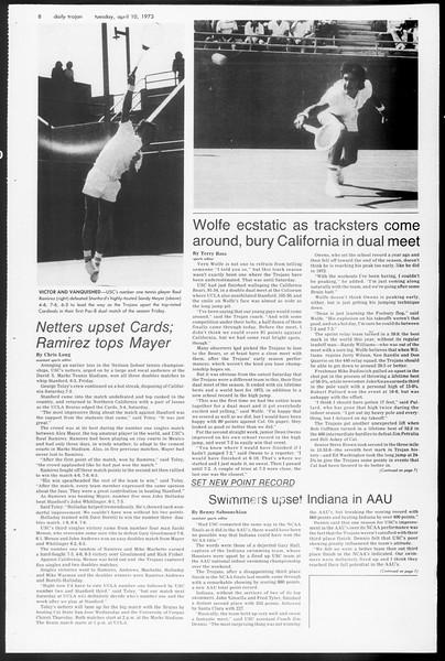Daily Trojan, Vol. 65, No. 109, April 10, 1973