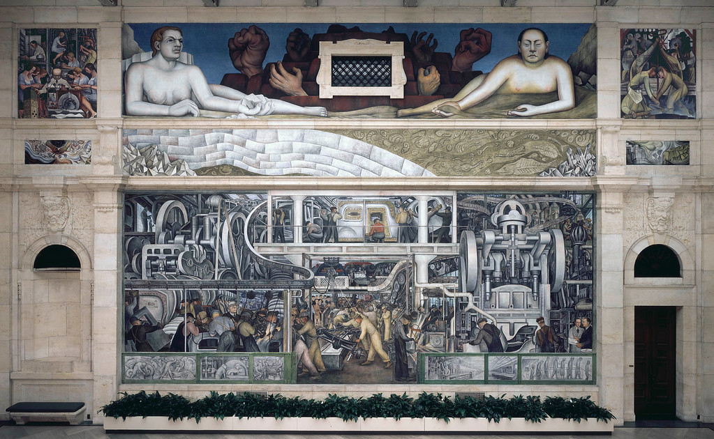 . Detroit Industry, south wall, Diego Rivera, 1932-33, fresco. Detroit Institute of Arts (final assembly)