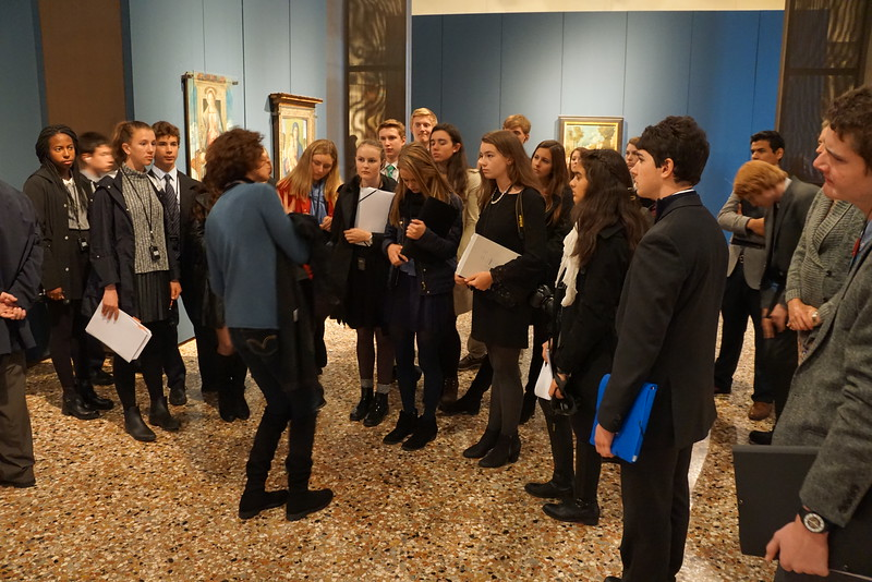 Betta giving the tour in the Art Accademia di Belle