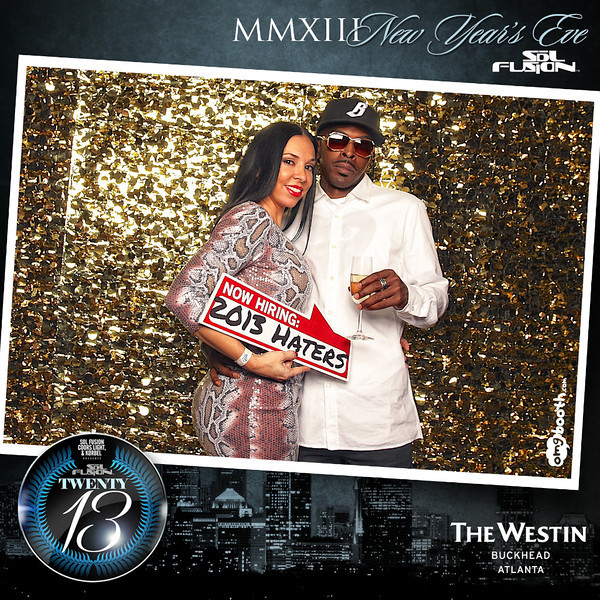 """12.31.2012 Sol Fusion TWENTY 13Westin Buckhead   Atlanta, GA""""Like"""" us at www.facebook.com/omgbooth to TAG + SHARE + DOWNLOAD your photosSol Fusion: Twenty.Thirteen    A New Year's Eve Celebration at the Luxurious Westin BuckheadAnother SOLD OUT event brought to you by J Carter, Moetown Lee, LeFoy Grant, Steve Canal, Mark Issa, Anthony Joiner, Justin Huff, Flo Barnes, Richard Dunn, Ryan Stewart, Maurice Simms, I'na Saulsbery, Salah Ananse and Arnold JiggettsLook out for other amazing events throughout the year at www.facebook.com/solfusion"""