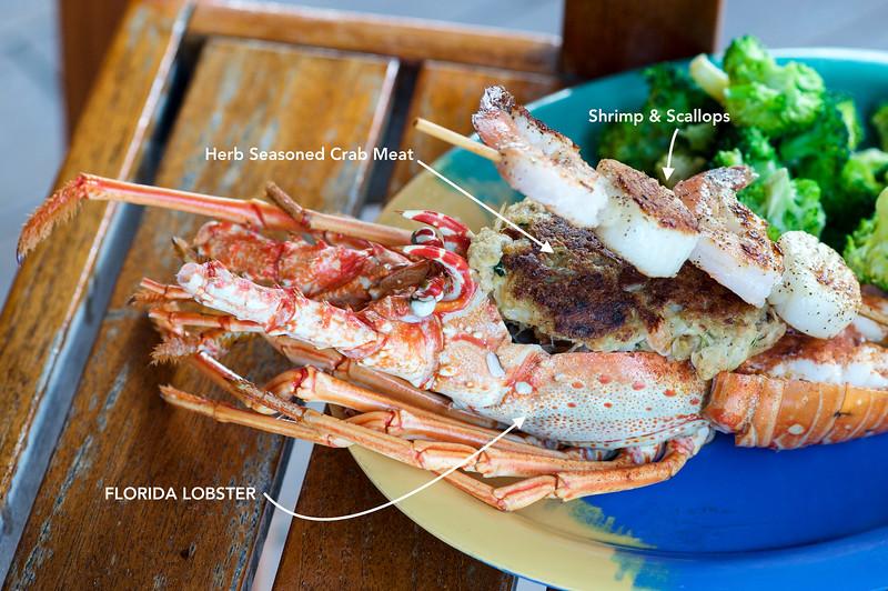 Stuffed Florida Lobster