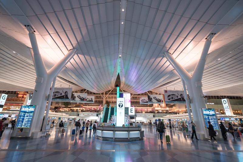 Narita Airport departure hall. Editorial credit: JHENG YAO / Shutterstock.com