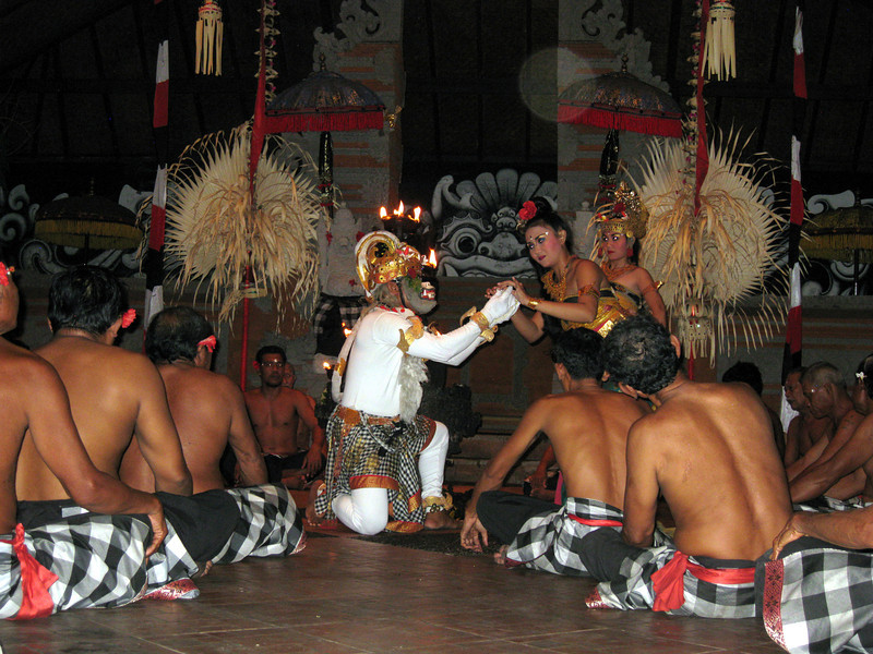 Religious performance in one Hindu-Temple.