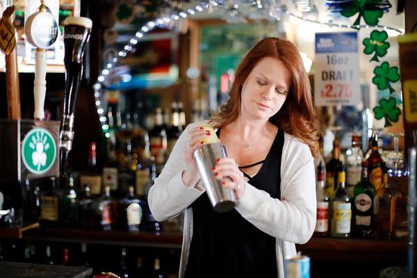 Bartender Nikki Frambach at O'Laughlin's Pub-030819