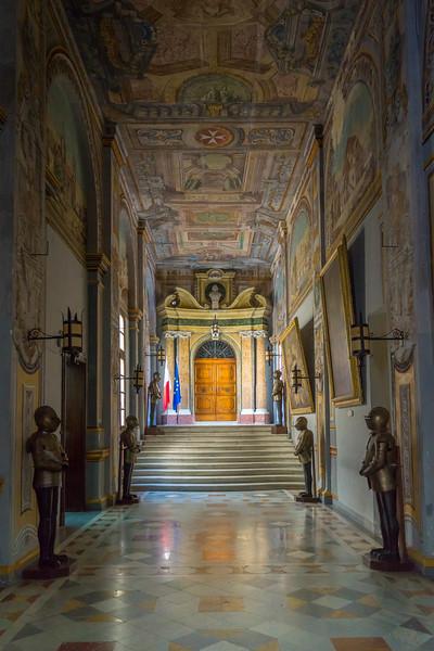 Grand Master's Palace Corridor View toward Parliament