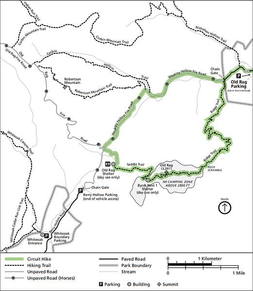 Shenandoah National Park (Trails - Old Rag Area)