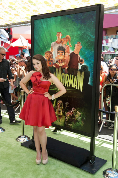 UNIVERSAL CITY, CA - AUGUST 05: Actress Jodelle Ferland arrives to the premiere of Focus Features' 'ParaNorman' at Universal CityWalk on Sunday, August 5, 2012 in Universal City, California. (Photo by Tom Sorensen/Moovieboy Pictures)